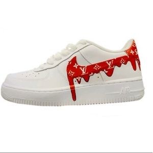 New in Box Air Force 1 x LV x Supreme